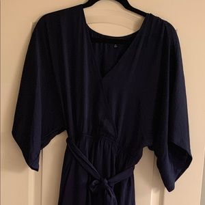 Dresses & Skirts - Navy Polyester Dress